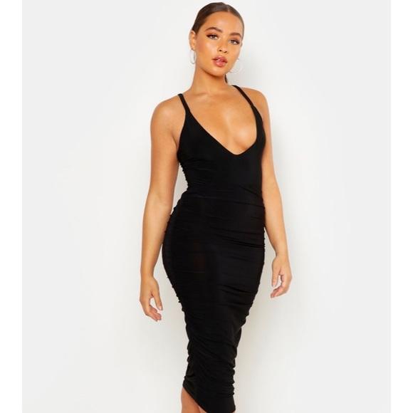 Boohoo Dresses & Skirts - Ruched midi skirt